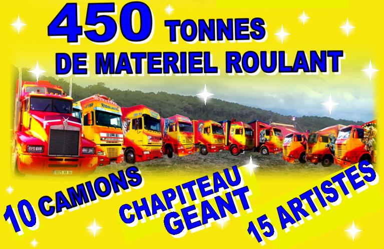 450 tonnes de matériel roulant