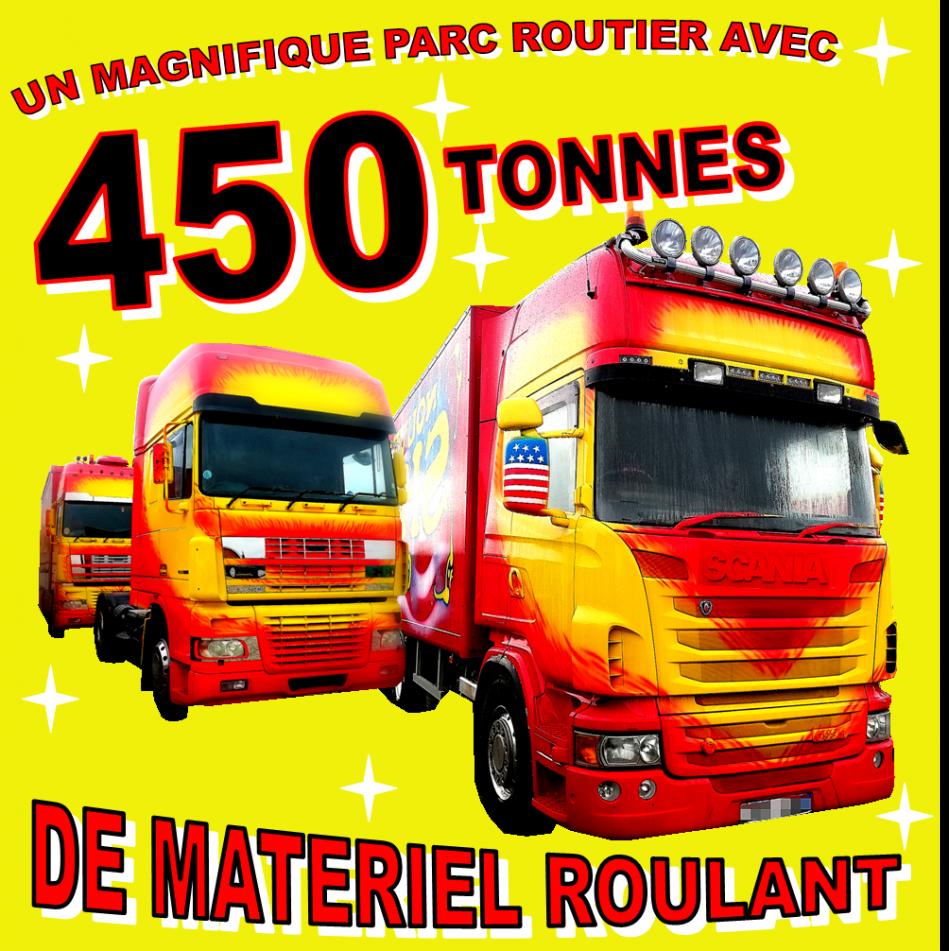 450 tonnes de materiel roulant
